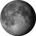Abnehmende Dreiviertel-Mondin